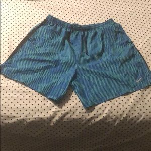 Nike Dri-fit lined running shorts